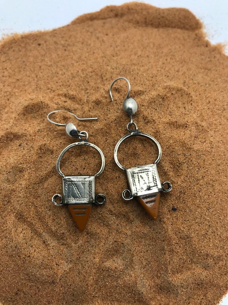 Boucles d/'oreille touareg Fait par main .artisanat berbere maroc ethnique jewelry Touareg