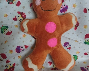 Gingerbread man Plush handstitched small gingerbread man