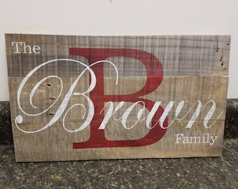 Personalized  Sign,Custom Name Wood Sign, Wedding Gift Sign, Pallet Last Name Sign, Rustic Sign, Established Date Family Sign,