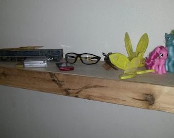 Pallet Wood Floating Shelf with Secret Drawer