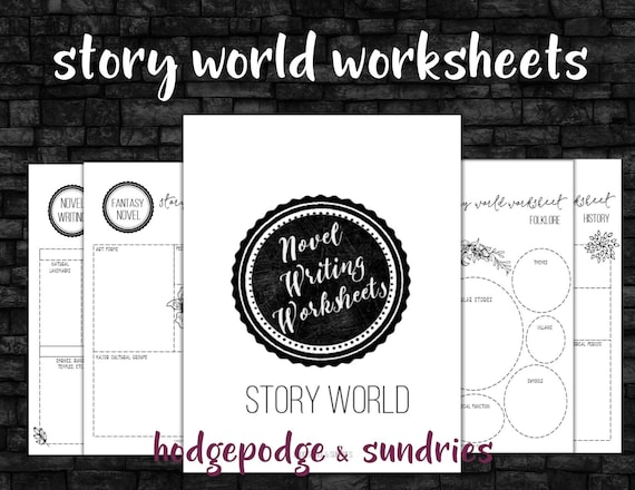 Novel Writing Printables Story World Worksheets Novel Etsy