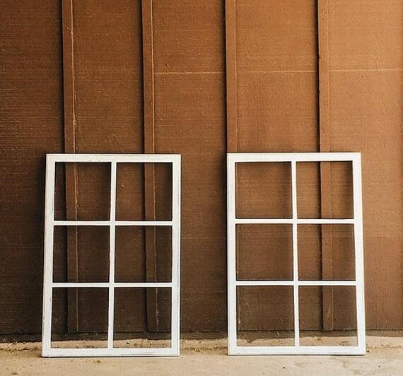 Window Frame Six Pane Faux Window Frame Wall Decor Etsy