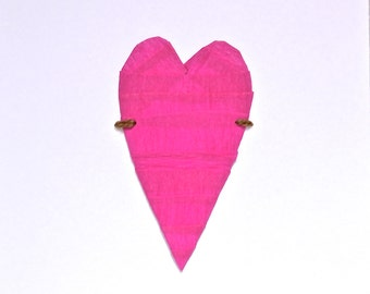 Handmade Pink Love Heart Card