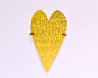 Golden Heart Love Card