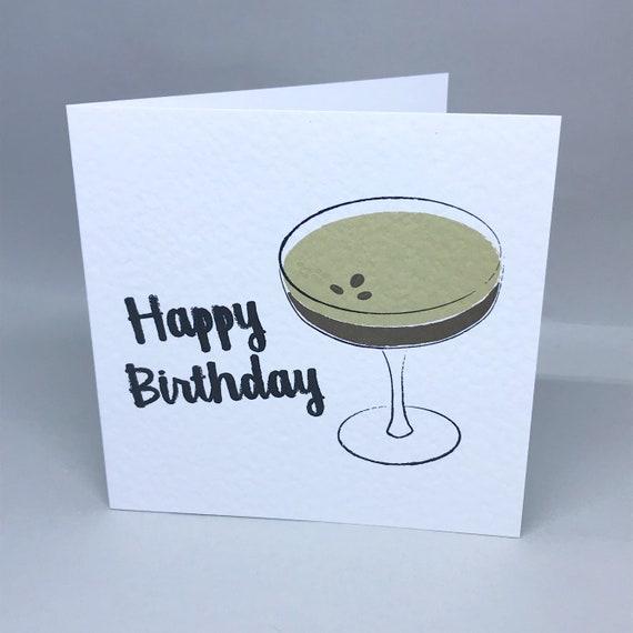 Happy Birthday Espresso Martini Etsy