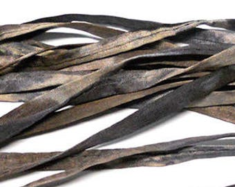 5PC. SNAKESKIN Hand Dyed Silk Cording//4MM Hand Dyed DIY Silk Necklace/Bracelet Cording//Hand Dyed 5PC. Silk Cording Bundles