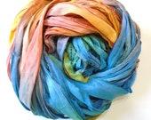 10YD KITE TAIL Sari Silk Ribbon Bundle Journal Sari Silk Ribbon Bundles,Sari Tassels,Sari Wall Decor,Sari Dream Catcher Streamers
