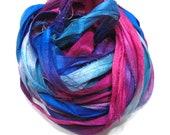 10YD RINGMASTER Sari Silk Ribbon Bundle Journal Sari Silk Ribbon,Sari Tassels,Sari Wall Decor,Sari Dream Catcher Streamers