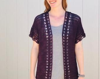 Midsummer Cardigan - Lacy & Lightweight Summer Cardigan Crochet Pattern for Women - PDF DOWNLOAD