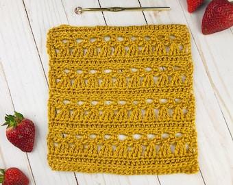 "CROCHET LACE SQUARE Pattern -  9"" Crochet Square Pattern, Crochet Blanket Square Patterns, Crochet Angel Square"