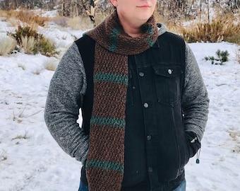 MENS SCARF Crochet Pattern - Alpine Mans Scarf Pattern, Crochet Scarves for for Men, Crochet Patterns for Men
