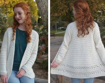 Angelica Cardigan — Easy & Long Crochet Cardigan Pattern for Women - PDF DOWNLOAD