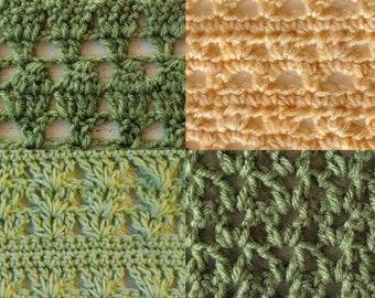 PDF Crochet Pattern: Lace Stitch Patterns Bundle stitch | Etsy