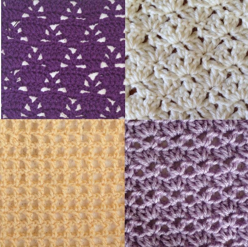April Stitch Along Bundlecrochet Stitch Dictionary Lace Etsy