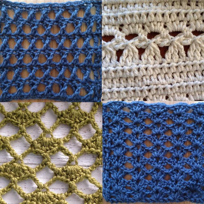 Pdf Crochet Pattern Lace Stitch Patterns Bundle Stitch Etsy
