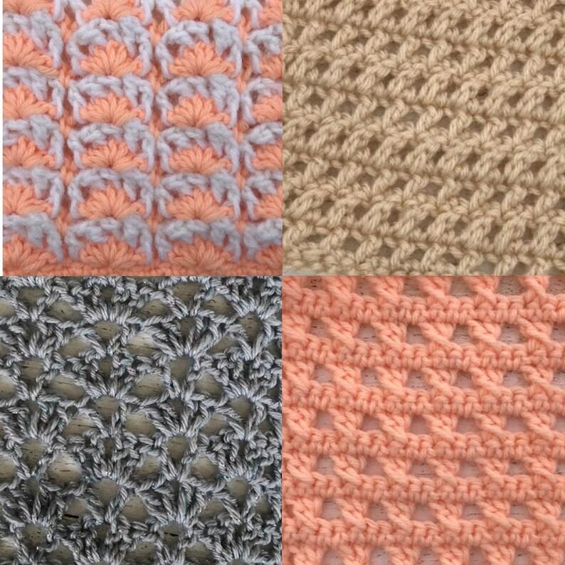 June Stitch Along Bundlecrochet Stitch Dictionary Lace Etsy