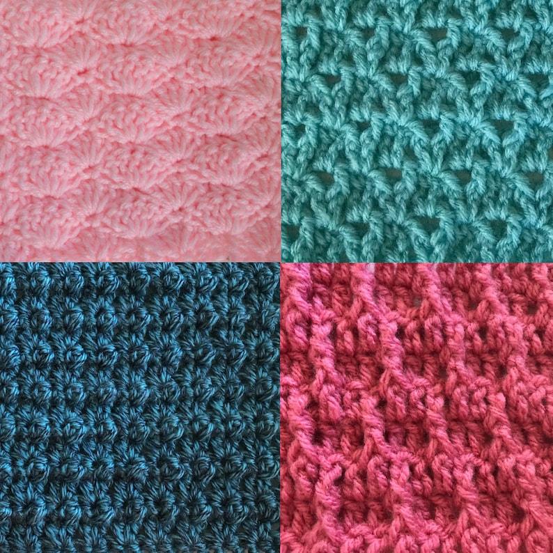 May Stitch Along Bundlecrochet Stitch Dictionary Lace Stitch Etsy