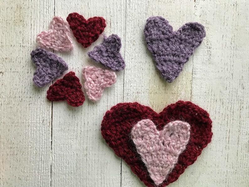 Crochet Heart Pattern Valentines Day Crochet Pattern Easy Etsy