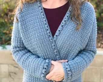 The Becky Cardigan, an Oversized Crochet Cardigan Pattern for Women