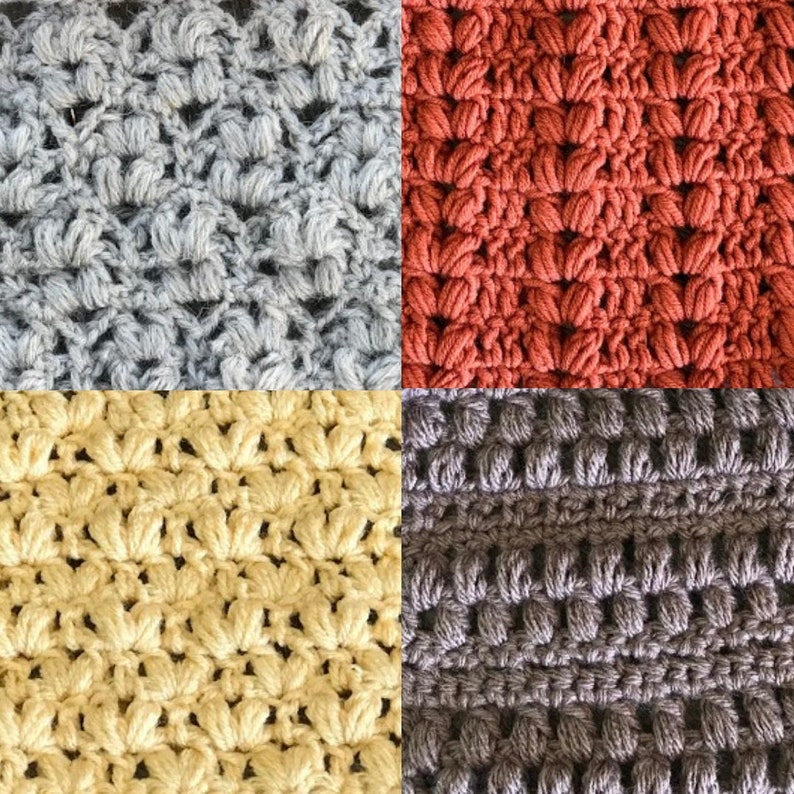 Unique Crochet Puff Stitch Patterns  fall crochet patterns image 0