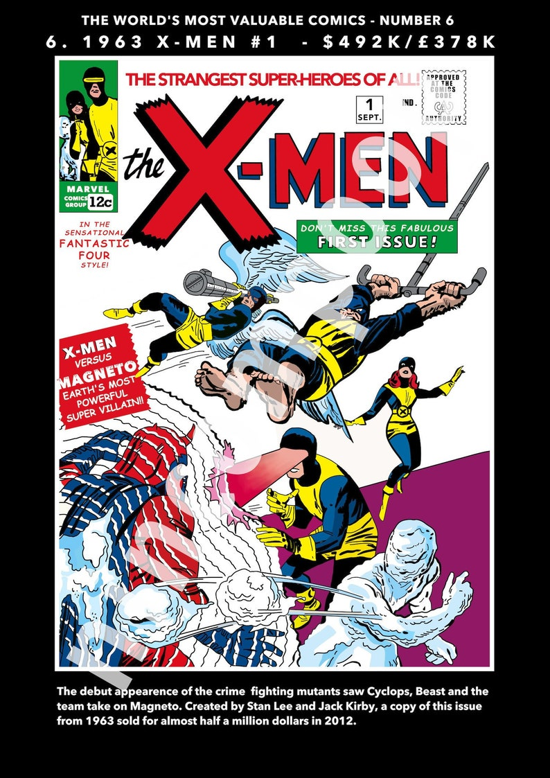 X-Men #1 - World's Most Valuable Comics No 6