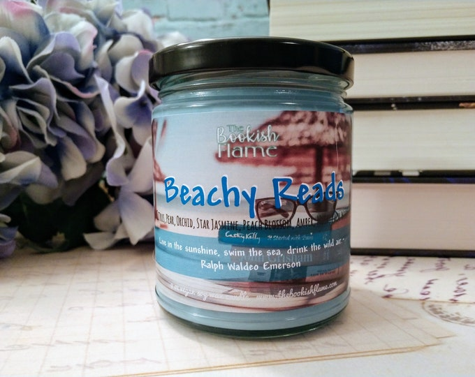 Featured listing image: Beachy Reads | Summer 2020 Only | Soy Wax | 9 oz Jar Candle