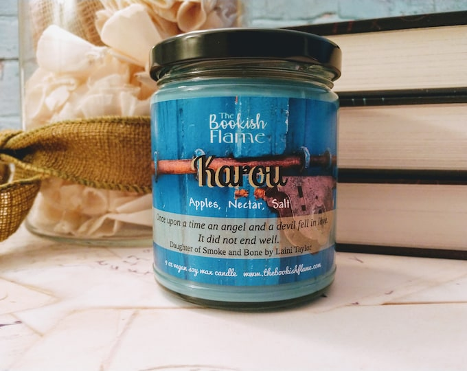 Featured listing image: Karou | Daughter of Smoke and Bone | 9 oz Soy Wax Jar Candle