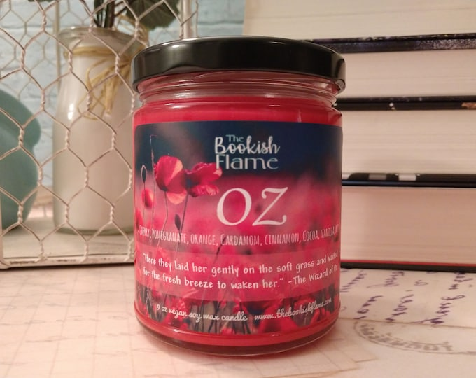 Featured listing image: Oz | Poppies | 9 oz Soy Wax Jar Candle