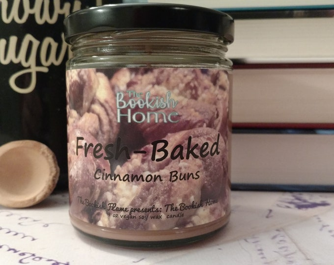 Featured listing image: Fresh-Baked | The Booksih Home | 9 oz Soy Candle