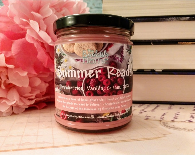 Featured listing image: Summer Reads | Summer 2020 Only | Soy Wax | 9 oz Jar Candle