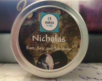 Nicholas Carter 4 oz Soy Candle