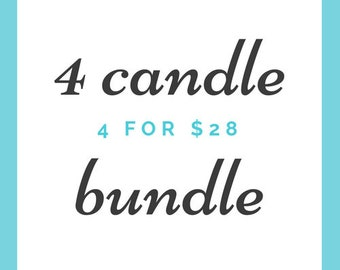 4 Candle Bundle (4-4oz Soy Candles)
