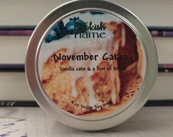 November Cakes (Scorpio Races) 4 oz Soy Candle