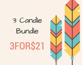 Trio Candle Bundle 3-4 oz. Soy Candles