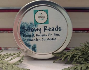 Snowy Reads 4 oz Soy Candle