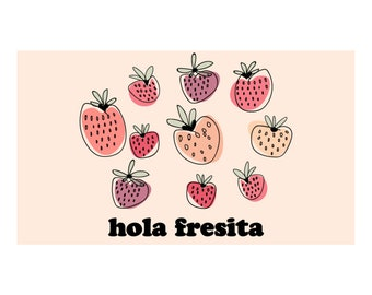 Postcard (Set of 2) - Hola Fresita / La Muy Muy