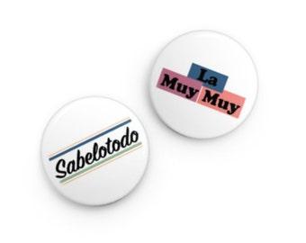 Pins (Set of 2) - La Muy Muy & Sabelotodo