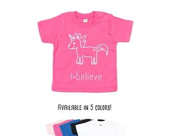 Baby unicorn shirt, Baby shirt, Unicorn shirt, baby unicorn tee, fantasy shirt, baby shower gift, I believe shirt, baby unicorn, baby girl