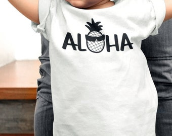 6bf4f69b0 Aloha shirt, baby shirt, pineapple shirt, aloha pineapple shirt, surfer  shirt, beach shirt, baby summer clothes, summer shirt, surfing tee