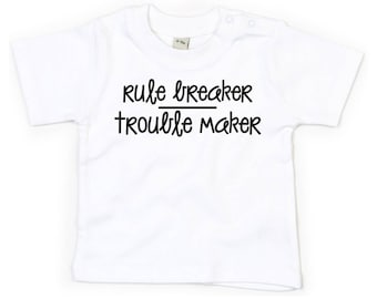 30bc6e27e1dccb Rule breaker, trouble maker, rule breaker shirt, trouble maker shirt, baby  shirt, toddler tee, graphic shirt, shirt with saying, baby rebel
