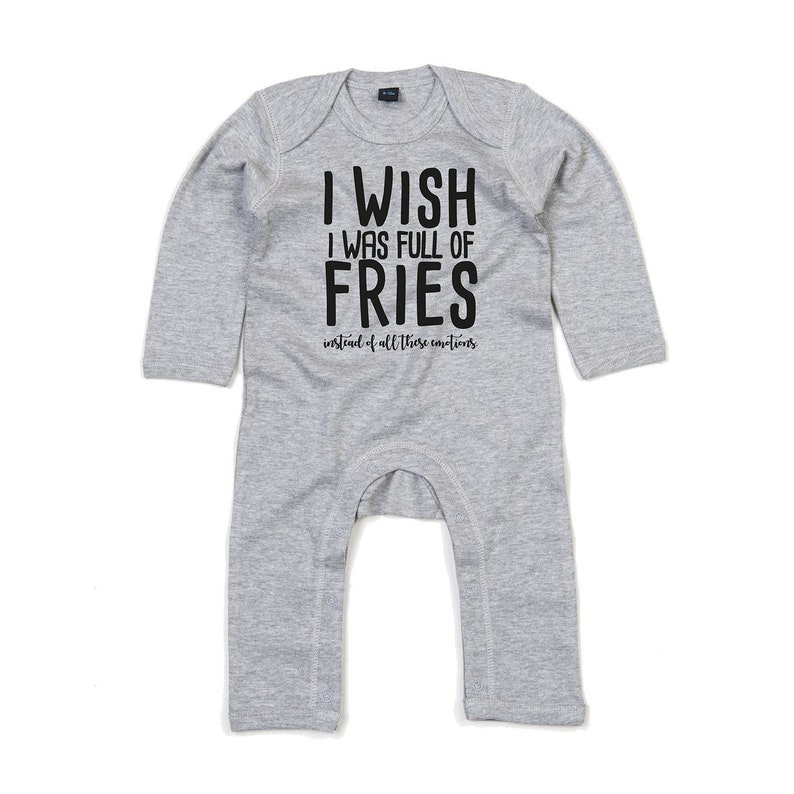 06df9d3ee2275c Fries romper baby fries romper I wish I was full of fries | Etsy