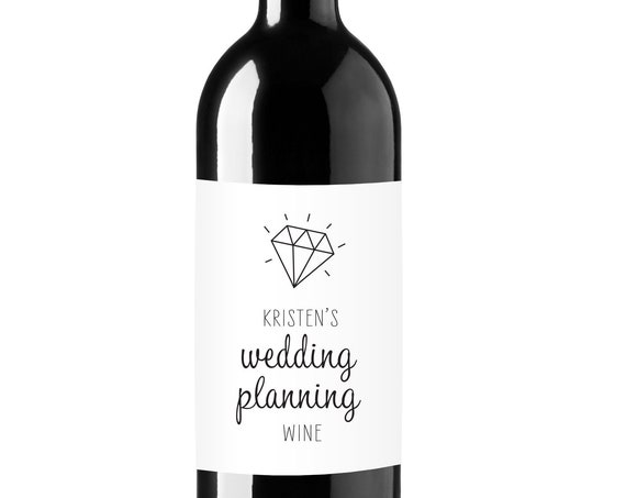 Personalized Wedding Planning Wine Labels - Engagement Gift