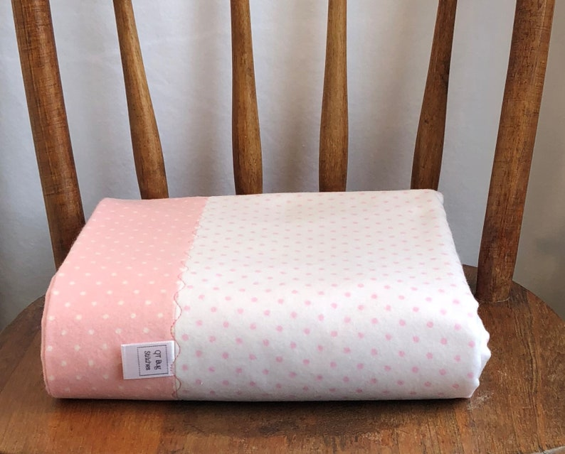 Cozy Cotton Flannel Fabric Sweet Dots Blossom Pink Polka Dot Premium Cotton Baby