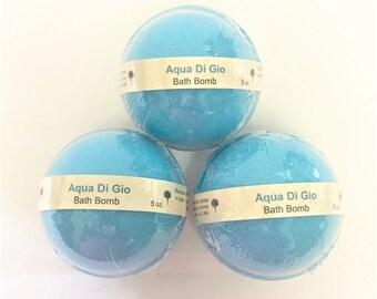 Aqua di Gio Type Men's Bath Bomb | Bath Bomb | Blue Violet Soaps