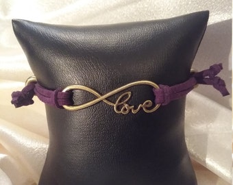 Purple suede love infinity