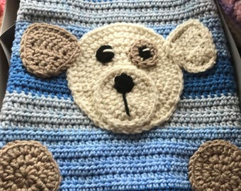 Crochet Puppy Dog Blanket, Handmade and Hypoallergenic