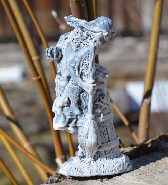 Baba Yaga Witch Marble Figurine Stone Sculpture Russian Fairytale Characters
