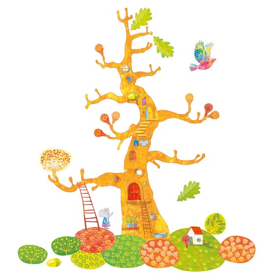 Wandtattoo Baum des Lebens, Wandtattoo Kinder, Mädchen Wandtattoo, Stoff  Wandtattoo, Baum Stoff Aufkleber, Aufkleber Baumschulen, ...