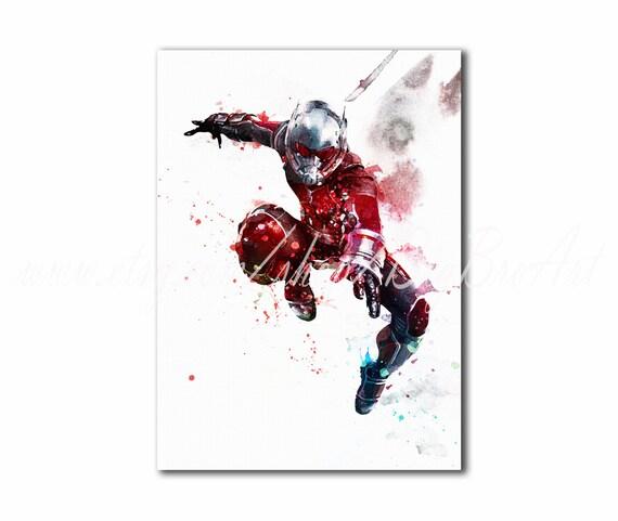 Los Vengadores de Ant-Man Ant-Man impresión póster de | Etsy