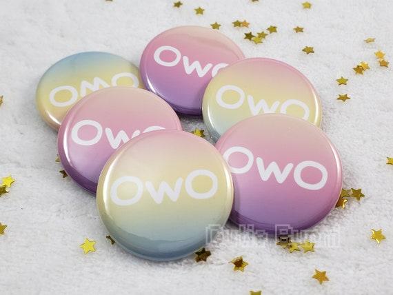 OwO What/'s This Emoji Meme Button Pin